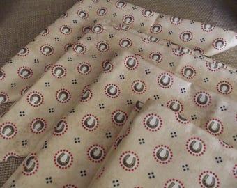 Horse Lovers Set of Four Handmade Cloth Napkins, Horseshoe Napkins, Fabric Napkins, Cotton Napkins, Dinner Napkins, Western Decor Napkins