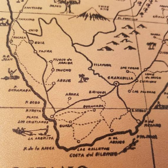 Vintage Tenerife Cork Map Souvenir Canary Islands Spain Vacation Mt Teide  Candelaria Santa Cruz Home Decor Map Collector