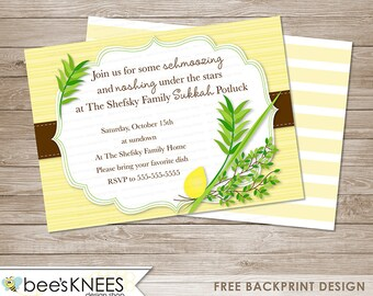 Sukkot Invitation DIY Printable Jewish Sukkah celebration
