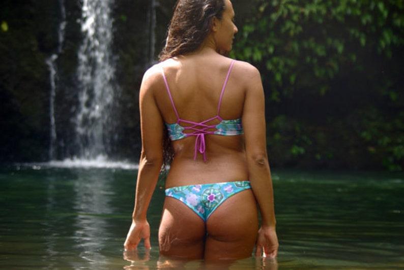 f5b3f4e68a302 Kaimana: REVERSIBLE Sexy Cheeky Brazilian Bikini Bottoms Made | Etsy