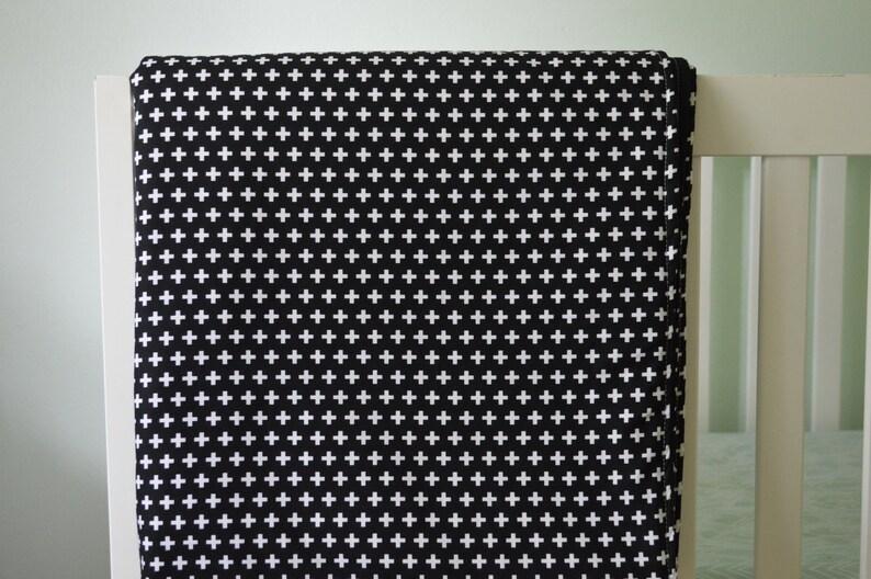 9c57d007f Crib Blanket Black Plus Remix Crib Blanket Baby Blanket