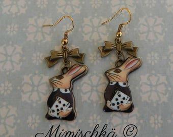 earrings alice in wonderland the rabbit