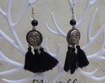 earrings  calavera mexicana sugar skull skeleton day of dead