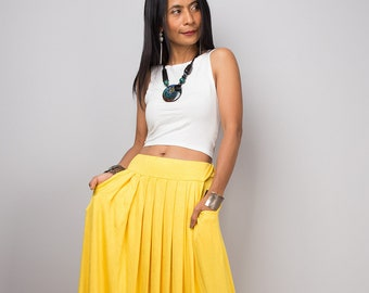 c64b7adcf31 Long Yellow Maxi Skirt