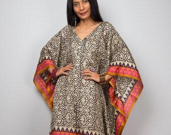 Caftan, Women's Tunic, Short kaftan, Summer tunic, Boho dress, Beach wear