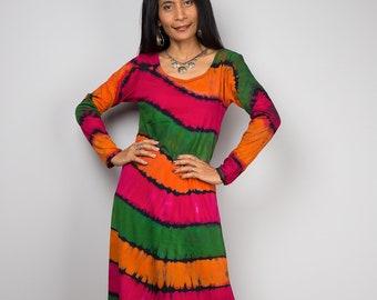 Tie Dye Dress, Festival dress, Rainbow dress, Summer dress : Funky Collection RALS009