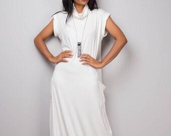 White dress, off white maxi dress, T shirt dress, turtleneck dress, tube dress, long white dress : Urban Chic Collection No.35
