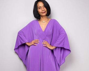 c3fd804e143c Kaftan Dress, Purple caftan, Soft lavender dress, Loose fit maxi dress,  Frock dress, Kimono Butterfly Dress : FU1S