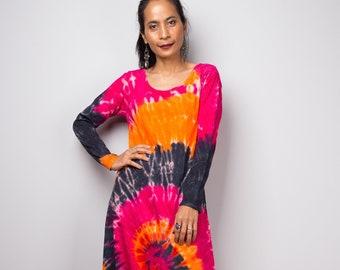 7155decf249 Long sleeve tie dye dress