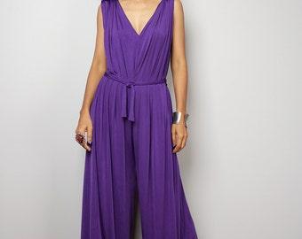 5dbdbcafdc4 Purple jumper dress