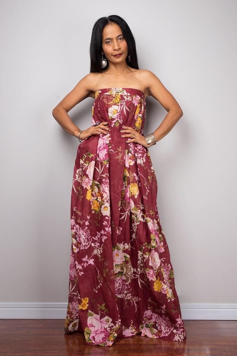 8c09c5c7e788 Boho floral dress Summer Dress cotton dress sleeveless maxi