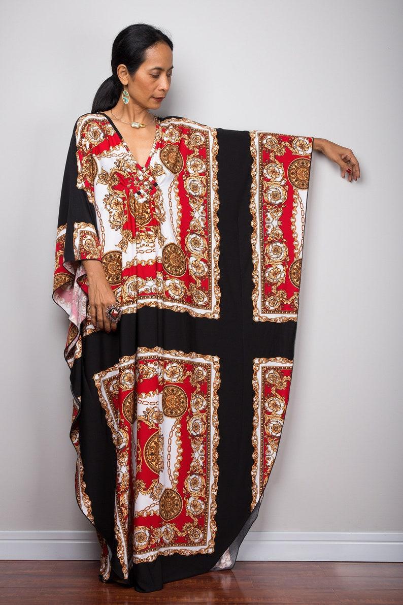 555cb5f22aff6 Boho Kaftan Dress Long loose fitting Maxi Frock Dress   Etsy