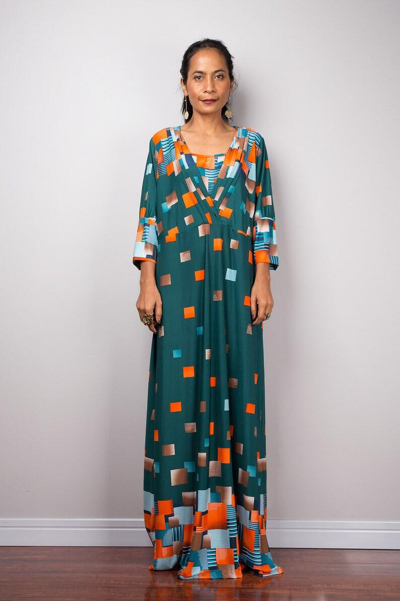 632806ed87b6 Boho Maxi Dress Loose fit modest abaya dress | Etsy