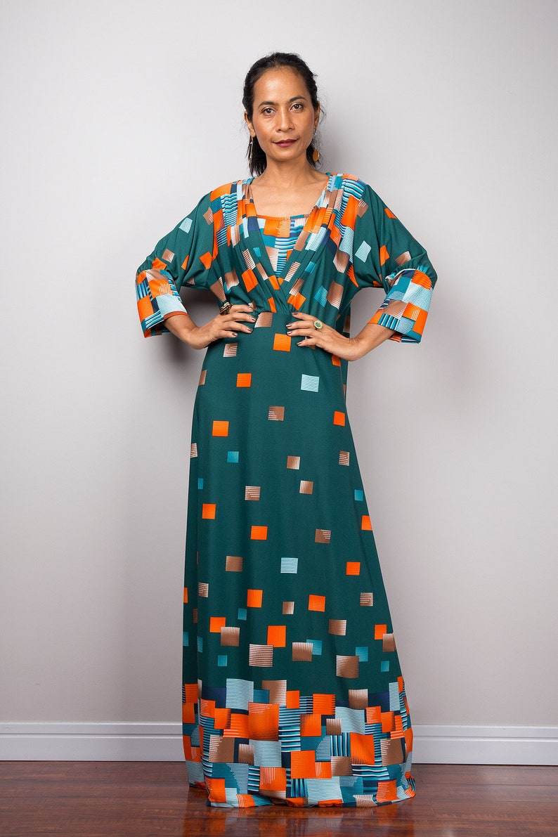 6f6ed2b29a1f1 Boho Maxi Dress Loose fit modest abaya dress   Etsy