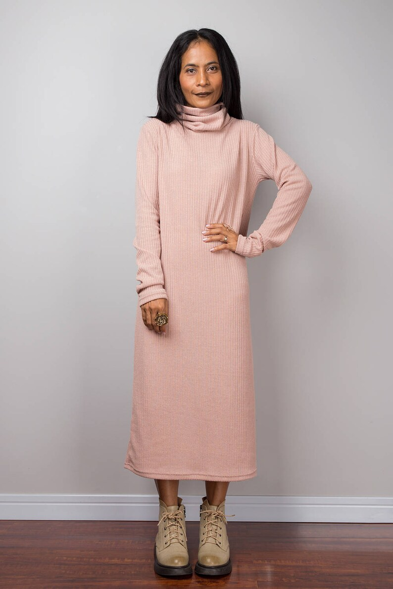 83a127bbc7d Turtleneck dress Mid length dress Tube dress Long sleeve