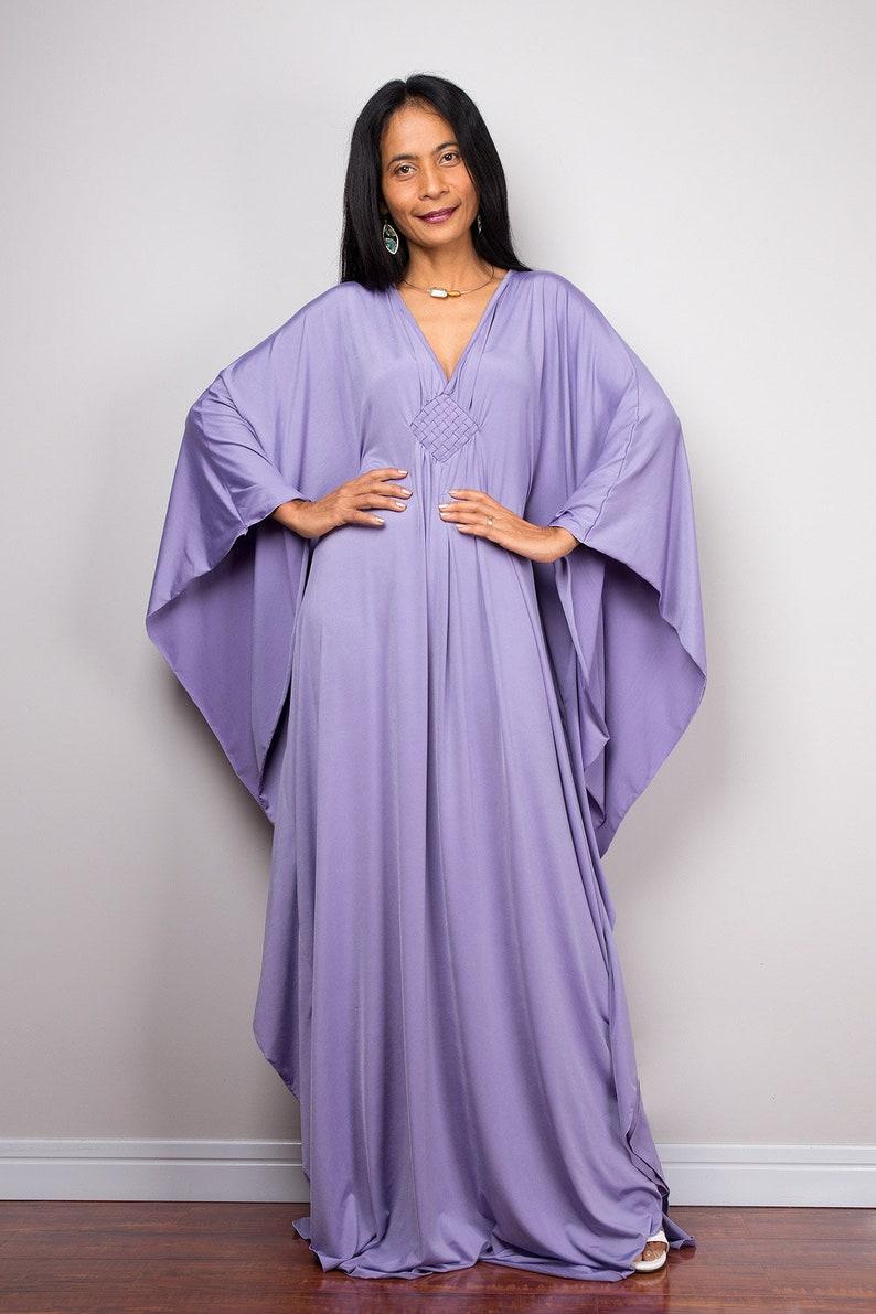 Robe Lila caftan violet clair Loose fit maxi robe robe   Etsy