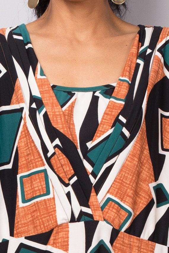 a6c09e1a833e Boho Abaya Maxi Dress Loose fit modest green orange dress | Etsy