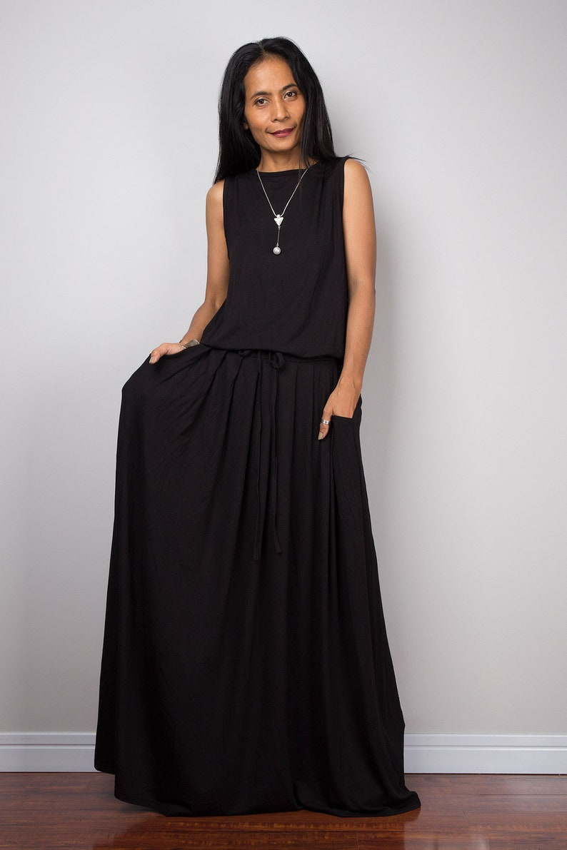 Plus Size Black Maxi Dress Canada