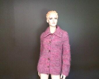 7da771f38bb Women s Avoca Weavers Hand Knitter Pure Wool Pile Sweater Made in Ireland