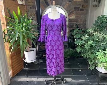 Purple brocade dress | Etsy