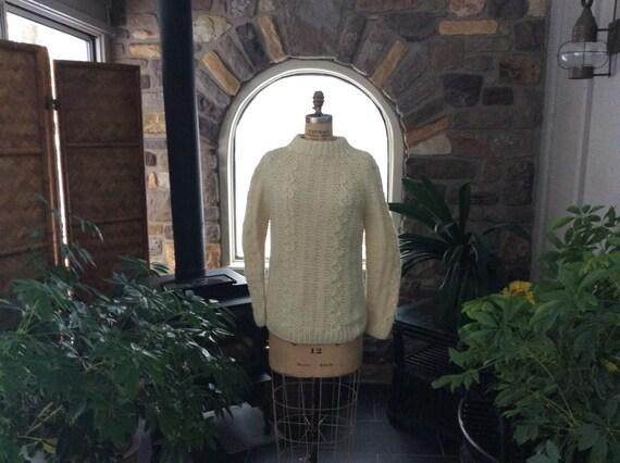 Vintage Irish Fisherman Wool Sweater Unisex,  Fish