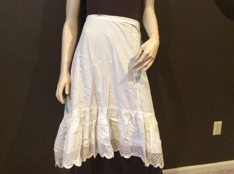 c1e313c6659 Antique Cotton and Eyelet Lace Petticoat Vintage Doll Clothes