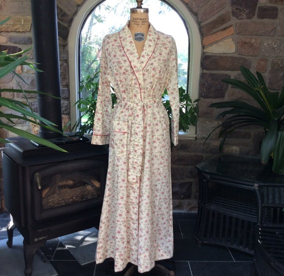 Robe Fleur Rose Vintage Robe Vintage Femme Au Foyer Sears Etsy