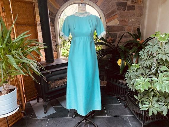 Vintage 1960s Light Blue Mother of the Bride Dress