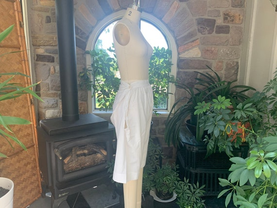Antique 1900s Victorian Plain White Cotton Pantal… - image 8