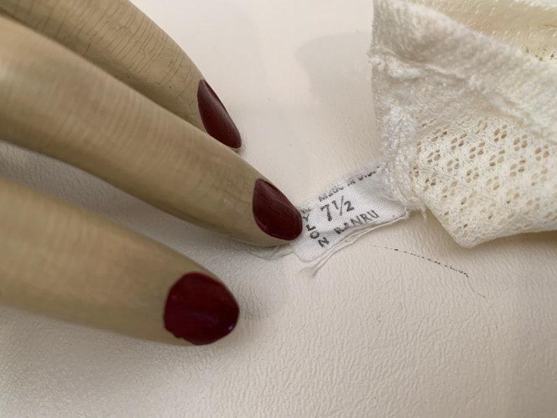 Bridesmaid Gloves Wedding Gloves Vintage Mesh Bridal Gloves Vintage 1950s Ivory Nylon Mesh Women/'s Gloves