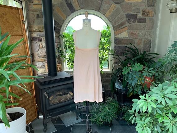Vintage 1940s Silky Peach Rayon Undershirt Plus Si