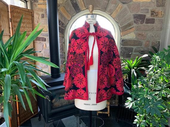 Vintage Bohemian Black Red Pink Orange Tapestry Ca