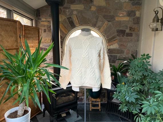 Vintage Fisherman Wool Sweater Bonner of Ireland F