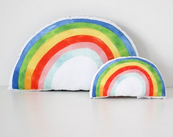 Rainbow Cushion ~ Bright
