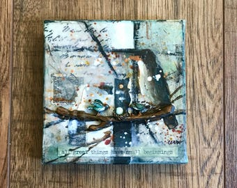 Mixed Media Art, Collage Art, Birds In Art, Collage and Painting