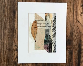 Mixed Media Collage, Abstract Art, Original Artwork, Paper Art