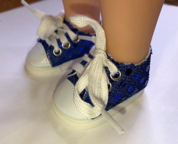 S3004 Royal Blue Glitter Sneakers | Etsy