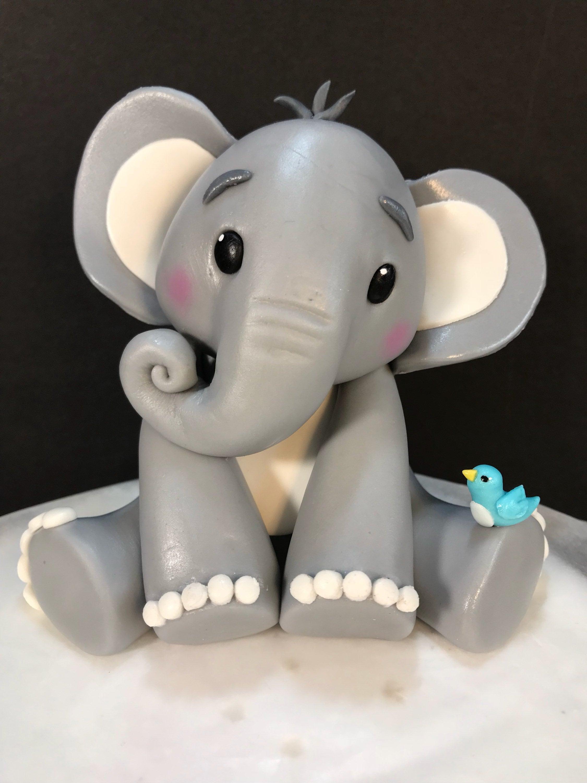 Fondant Baby elephant cake topper | Etsy