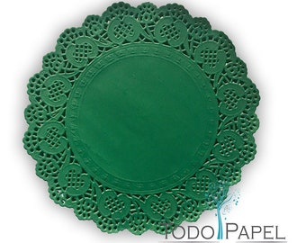 Wedding Wedding Decor Baby Shower Bridal Shower 25-50Ct 10x14 Dark Green Paper Scalloped Placemat Party Decor Engagement Party Party