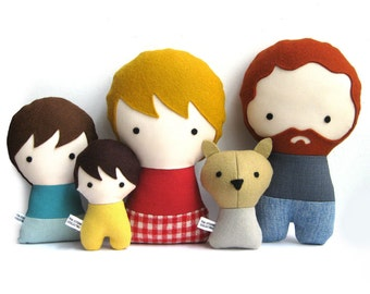 Handmade Personalized rag doll. Plush toy. Custom doll. Customize.