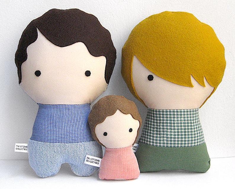 Personalizzati di bambole di pezza personalizzati famiglia  90ffa71d438