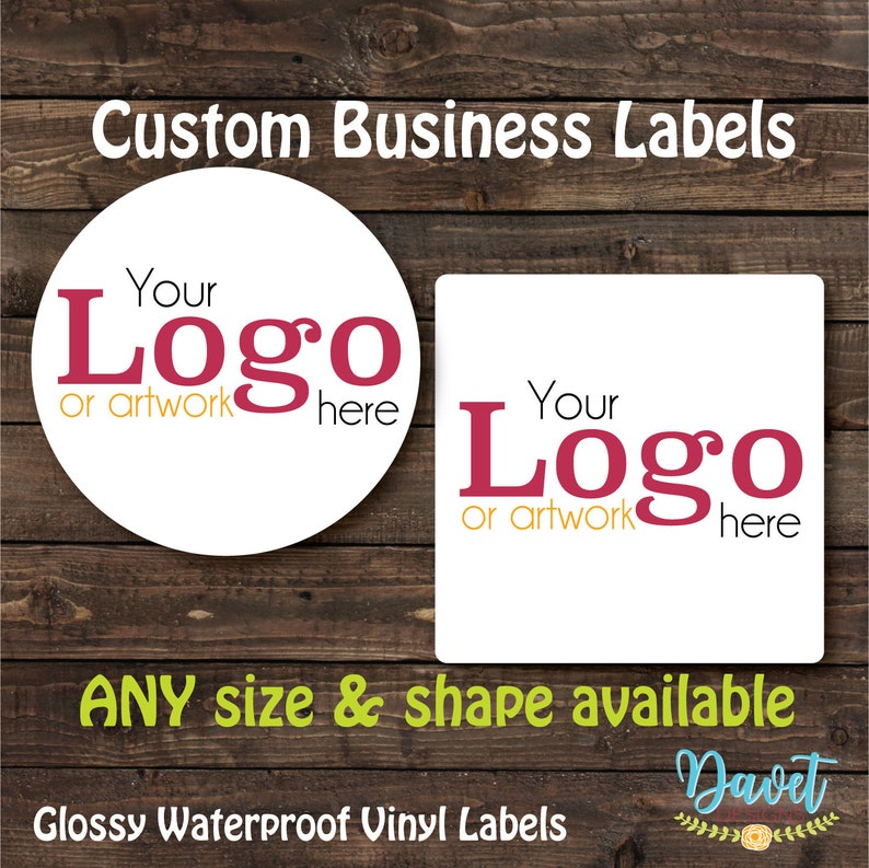 1.5 inch Custom Glossy Waterproof Stickers Labels Seals for image 0