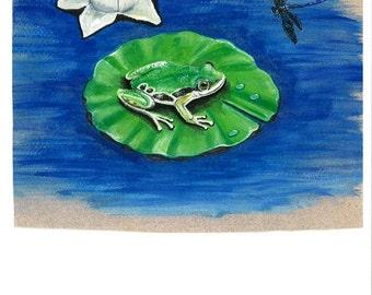Frog Original Watercolor Painting