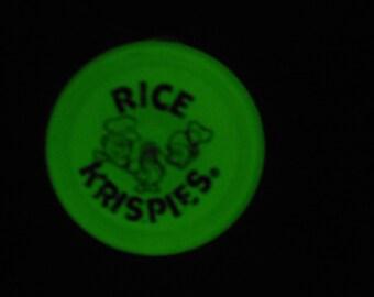 Vintage Duncan Glow Imperial Rice Krispies Yo Yo Toy Glow in the Dark Retro Vintage Duncan Imperial YOYO Kellogg Cereal Promotion rice crisp
