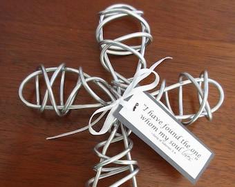 Cadeaux pour lui cadeaux pour son fil de croix avec verset biblique mariage cadeau baptême cadeau Pâques anniversaire cadeau de sympathie l'obtention du diplôme