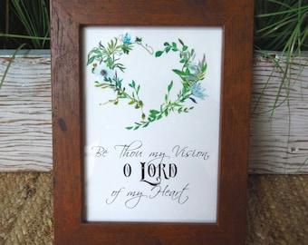 Sois ma Vision, Seigneur de mon coeur Christian WORD Art Shadowbox noir blanc vert famille cadeau de pendaison de crémaillère cadeau cadeau d'hôtesse