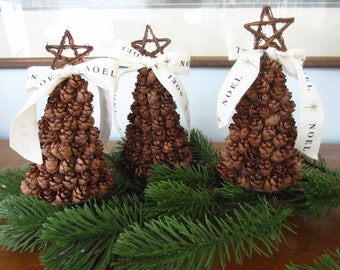 christian christmas tree mini tree mini pine cone christmas tree mantle decor christmas decor farmhouse christmas noel
