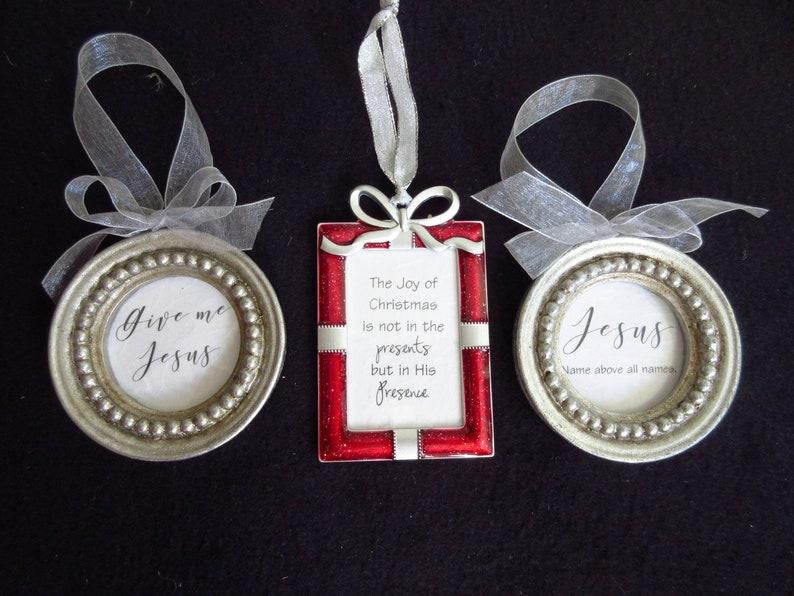 Christian Christmas Ornaments Frame Ornaments The Joy of image 0