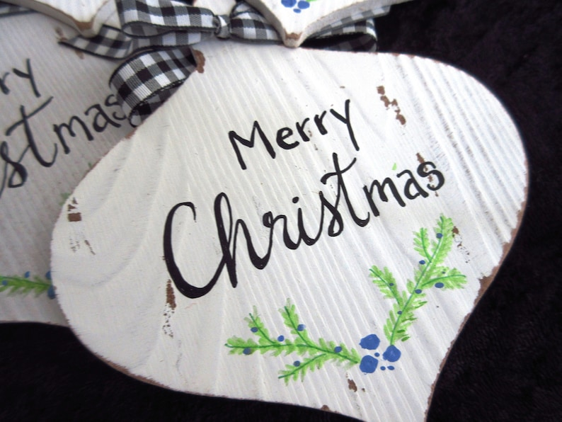 Christian Christmas Ornament Merry CHRISTmas ornament Wooden image 0