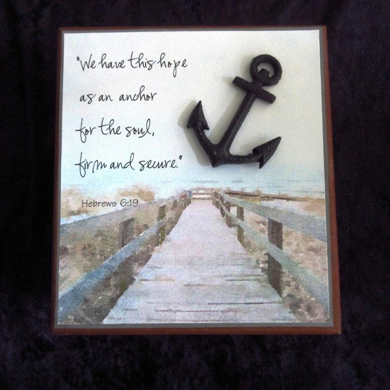 Gifts for Dad Vintage Cigar Box Balsa Wood Box Hope Anchor image 0